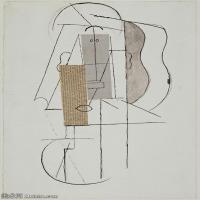 【印刷级】YHR181125188-西班牙画家巴勃罗毕加索PabloPicasso现代派绘画作品高清图片抽象油画高清图片印象派油画-84M-4500X6561