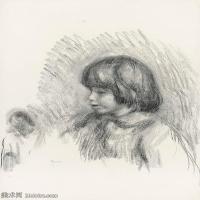 【打印级】SMR19154658-皮埃尔奥古斯特雷诺阿Pierre Auguste Renoir法国印象派重要画家雷诺阿印象派素描作品集PORTRAIT DE COCO-24M-2624X3204