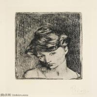 【打印级】SMR181128118-西班牙画家巴勃罗毕加索Pablo Picasso现代派素描毕加索手稿高清图片毕加索素描作品-21M-2388X3200