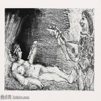 【打印级】SMR181128123-西班牙画家巴勃罗毕加索Pablo Picasso现代派素描毕加索手稿高清图片毕加索素描作品-22M-3200X2400