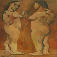 【印刷级】YHR181125194-西班牙画家巴勃罗毕加索PabloPicasso现代派绘画作品高清图片抽象油画高清图片印象派油画-95M-4500X7386
