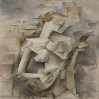 【印刷级】YHR181125184-西班牙画家巴勃罗毕加索PabloPicasso现代派绘画作品高清图片抽象油画高清图片印象派油画-80M-4500X6223