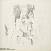 【打印级】SMR181128127-西班牙画家巴勃罗毕加索Pablo Picasso现代派素描毕加索手稿高清图片毕加索素描作品-22M-3199X2416