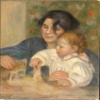 【超顶级】YHR191548470-皮埃尔奥古斯特雷诺阿Pierre Auguste Renoir法国印象派重要画家雷诺阿印象派油画作品集GabrielleetJean,by,fromC2RMF-31