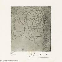 【打印级】SMR181128119-西班牙画家巴勃罗毕加索Pablo Picasso现代派素描毕加索手稿高清图片毕加索素描作品-21M-2383X3208