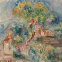 【打印级】YHR191548307-皮埃尔奥古斯特雷诺阿Pierre Auguste Renoir法国印象派重要画家雷诺阿印象派油画作品集ESQUISSE DE PAYSAGE-21M-2362X32