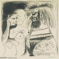 【打印级】SMR181128134-西班牙画家巴勃罗毕加索Pablo Picasso现代派素描毕加索手稿高清图片毕加索素描作品-22M-2433X3202