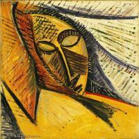 【印刷级】YHR181125174-西班牙画家巴勃罗毕加索PabloPicasso现代派绘画作品高清图片抽象油画高清图片印象派油画-75M-4500X5900