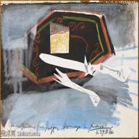 【印刷级】YHR181125186-西班牙画家巴勃罗毕加索PabloPicasso现代派绘画作品高清图片抽象油画高清图片印象派油画-82M-6288X4559