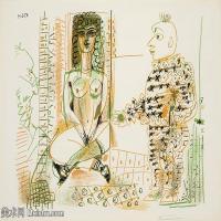 【打印级】SMR181128112-西班牙画家巴勃罗毕加索Pablo Picasso现代派素描毕加索手稿高清图片毕加索素描作品-21M-3200X2356