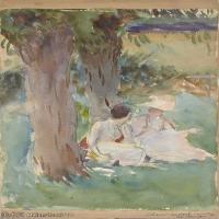 【印刷级】SCR190845146-约翰萨金特John Singer Sargent美国肖像画家水彩画家绘画作品集萨金特水彩作品