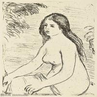【打印级】SMR19154656-皮埃尔奥古斯特雷诺阿Pierre Auguste Renoir法国印象派重要画家雷诺阿印象派素描作品集FEMME NUE ASSISE-22M-2500X3200