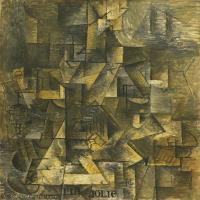 【印刷级】YHR181125191-西班牙画家巴勃罗毕加索PabloPicasso现代派绘画作品高清图片抽象油画高清图片印象派油画-90M-4500X7002