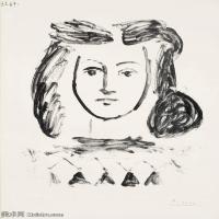 【打印级】SMR181128124-西班牙画家巴勃罗毕加索Pablo Picasso现代派素描毕加索手稿高清图片毕加索素描作品-22M-2403X3201