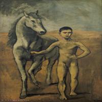 【印刷级】YHR181125198-西班牙画家巴勃罗毕加索PabloPicasso现代派绘画作品高清图片抽象油画高清图片印象派油画-98M-4500X7660