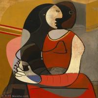 【印刷级】YHR181125187-西班牙画家巴勃罗毕加索PabloPicasso现代派绘画作品高清图片抽象油画高清图片印象派油画-82M-4500X6377