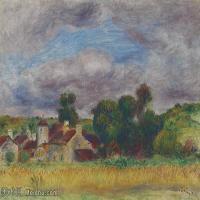 【打印级】YHR191548301-皮埃尔奥古斯特雷诺阿Pierre Auguste Renoir法国印象派重要画家雷诺阿印象派油画作品集PAYSAGE DE BRETAGNE-21M-3199X23
