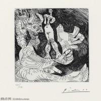 【打印级】SMR181128107-西班牙画家巴勃罗毕加索Pablo Picasso现代派素描毕加索手稿高清图片毕加索素描作品-21M-2317X3207