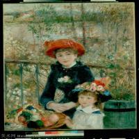 【超顶级】YHR191548472-皮埃尔奥古斯特雷诺阿Pierre Auguste Renoir法国印象派重要画家雷诺阿印象派油画作品集Renoir,PierreAugusteTheTwoSiste