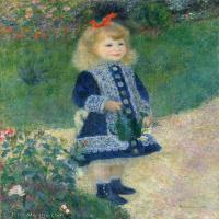 【超顶级】YHR191548468-皮埃尔奥古斯特雷诺阿Pierre Auguste Renoir法国印象派重要画家雷诺阿印象派油画作品集AugusteRenoirAGirlwithaWatering