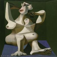【印刷级】YHR181125180-西班牙画家巴勃罗毕加索PabloPicasso现代派绘画作品高清图片抽象油画高清图片印象派油画-78M-4500X6083