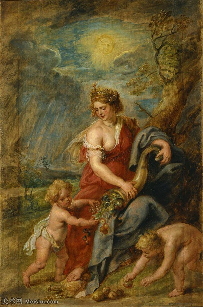 【打印级】YHR191105426-彼得保罗鲁本斯Peter Paul Rubens德国巴洛克画派画家古典油画人物高清图