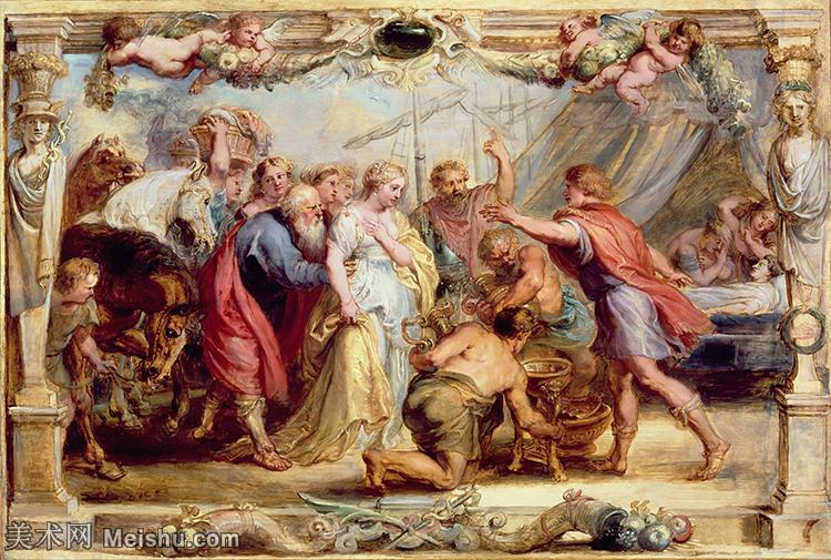 【欣赏级】YHR191105042-彼得保罗鲁本斯Peter Paul Rubens德国巴洛克画派画家古典油画人物高清图