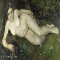 【印刷级】YHR191548457-皮埃尔奥古斯特雷诺阿Pierre Auguste Renoir法国印象派重要画家雷诺阿印象派油画作品集 A Nymph by a Stream-89M-7689X4