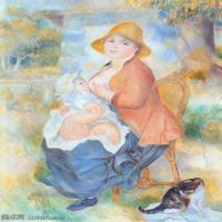 【印刷级】YHR191548460-皮埃尔奥古斯特雷诺阿Pierre Auguste Renoir法国印象派重要画家雷诺阿印象派油画作品集Renoirmaternite-99M-5000X6960