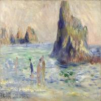 【印刷级】YHR191548458-皮埃尔奥古斯特雷诺阿Pierre Auguste Renoir法国印象派重要画家雷诺阿印象派油画作品集 Moulin Huet Bay, Guernsey-89M-