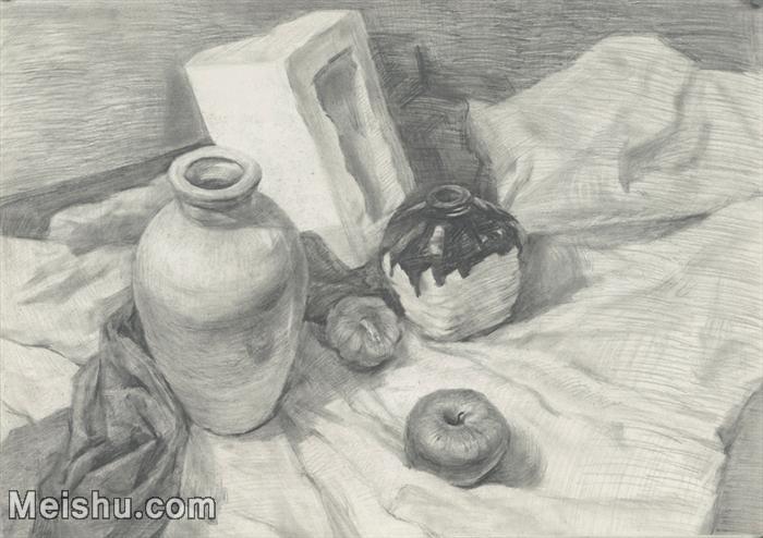 【印刷级】SM-10122839-素描静物美考优秀试卷艺考高分卷铅笔画美术生作品图片下载-81M-6367X4493.j