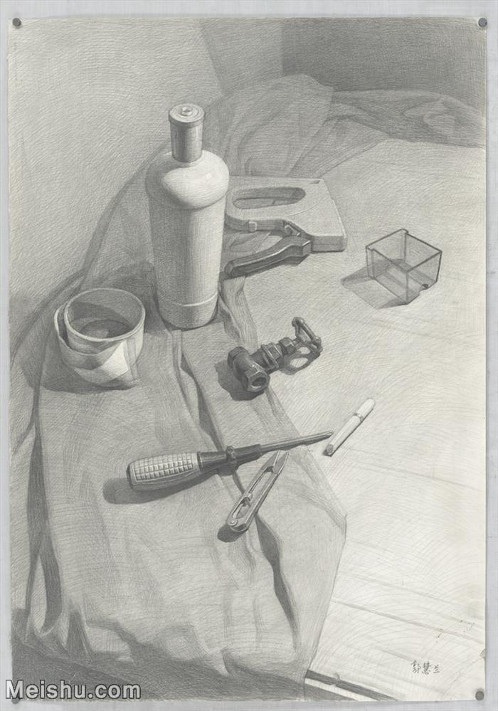 【超顶级】SM-10122892-素描静物美考优秀试卷艺考高分卷铅笔画美术生作品图片下载-150M-6072X8671.