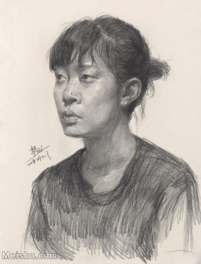 【印刷级】SM-10122703-素描半身艺考美考高分素描半身作品高清图片下载男青年女青年老年人专辑-114M-5519