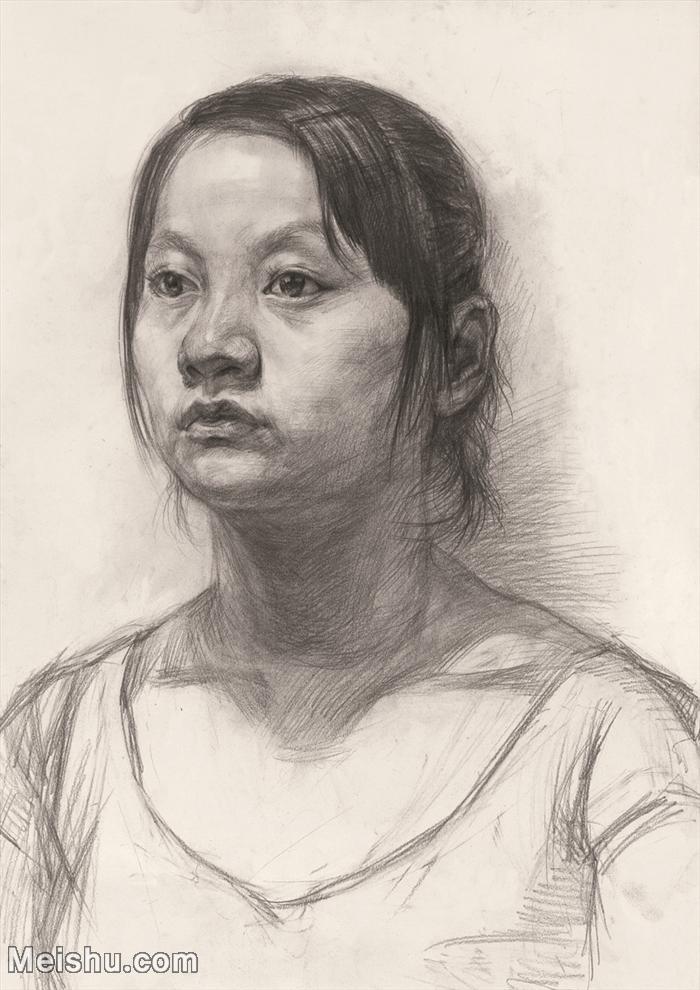 【印刷级】SM-10122677-素描半身艺考美考高分素描半身作品高清图片下载男青年女青年老年人专辑-105M-4428