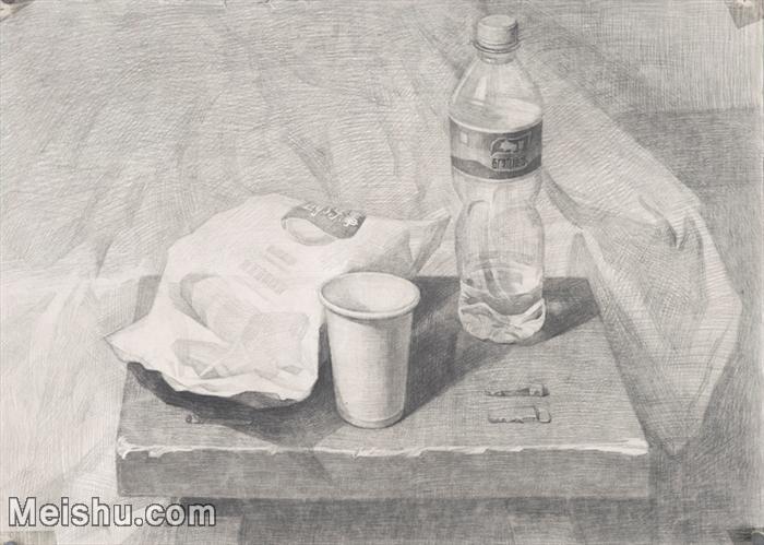 【印刷级】SM-10122975-素描静物美考优秀试卷艺考高分卷铅笔画美术生作品图片下载-88M-6600X4705.j