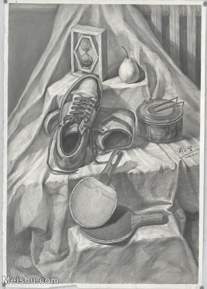 【印刷级】SM-10122893-素描静物美考优秀试卷艺考高分卷铅笔画美术生作品图片下载-144M-6016X8379.