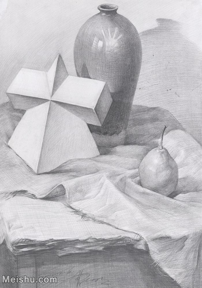【印刷级】SM-10122968-素描静物美考优秀试卷艺考高分卷铅笔画美术生作品图片下载-77M-4368X6208.j