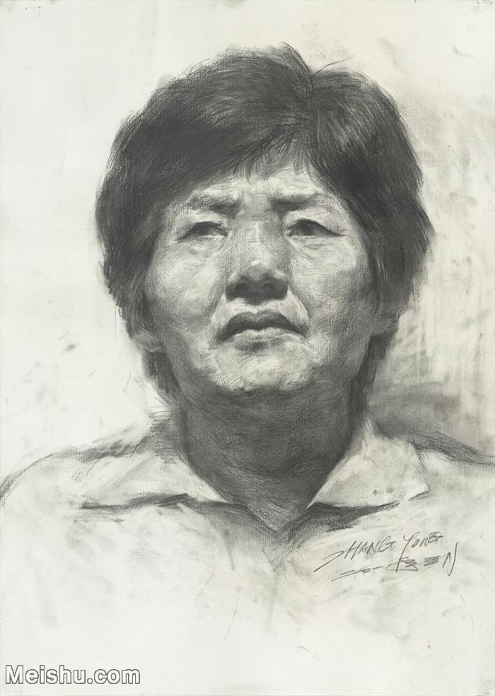 【印刷级】SM-10123137-素描头像美术高考素描优秀试卷八大美院男青年女青年高清图片-86M-4645X6528.
