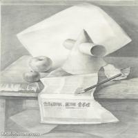 【超顶级】SM-10122981-素描静物美考优秀试卷艺考高分卷铅笔画美术生作品图片下载-157M-6066X9058