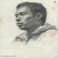 【印刷级】SM-10123144-素描头像美术高考素描优秀试卷八大美院男青年女青年高清图片-88M-4749X6536