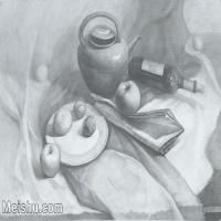 【超顶级】SM-10122987-素描静物美考优秀试卷艺考高分卷铅笔画美术生作品图片下载-162M-9105X6229