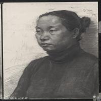 【超頂級】SM-10122614-素描半身藝考美考高分素描半身作品高清圖片下載男青年女青年老年人專輯-309M-8640X12537