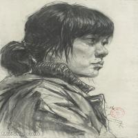 【印刷级】SM-10123140-素描头像美术高考素描优秀试卷八大美院男青年女青年高清图片-88M-4710X6559