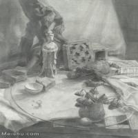 【超顶级】SM-10122916-素描静物美考优秀试卷艺考高分卷铅笔画美术生作品图片下载-737M-9562X13434
