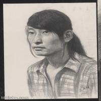 【超頂級】SM-10122619-素描半身藝考美考高分素描半身作品高清圖片下載男青年女青年老年人專輯-162M-6528X8699