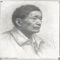 【印刷级】SM-10123211-素描头像美术高考素描优秀试卷八大美院男青年女青年高清图片-90M-4765X6654