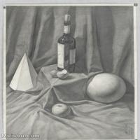 【超顶级】SM-10122905-素描静物美考优秀试卷艺考高分卷铅笔画美术生作品图片下载-195M-6996X9776