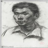 【印刷级】SM-10123107-素描头像美术高考素描优秀试卷八大美院男青年女青年高清图片-99M-4939X7008