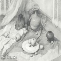 【超顶级】SM-10122990-素描静物美考优秀试卷艺考高分卷铅笔画美术生作品图片下载-158M-9069X6105