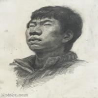 【印刷级】SM-10123138-素描头像美术高考素描优秀试卷八大美院男青年女青年高清图片-87M-4661X6536